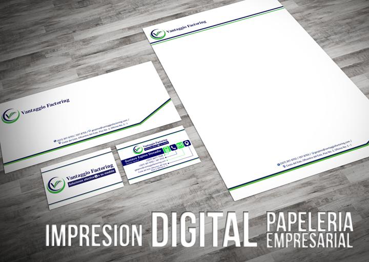 Impresión digital de papeleria